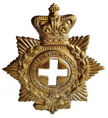 Victorian The Medical Staff Corps Badge Brass Metal
