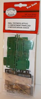 Parkside Dundas 009 DM64 - Ffestiniog Style 4-Comp Bogie Coach Kit - New (009)