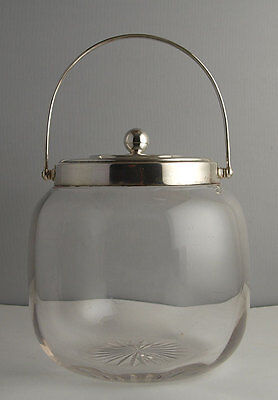 Edwardian Solid Silver Mounted Biscuit Barrel - Sheff. 1910