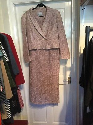 Michael Ambers pale pink mother of the bride dress and jacket size 16