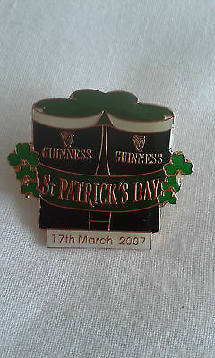 Guinness St Patrick's Day 2007 pin badge.