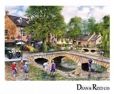 GIBSONS JIGSAW PUZZLE 1000 PIECES - Bourton on the Water by Terry Harrison