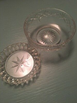 Two Cut Glass Decorative Dishes