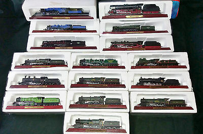16 Boxed Atlas Editions Various Model Trains. Priced Each Extra Trains Free Post