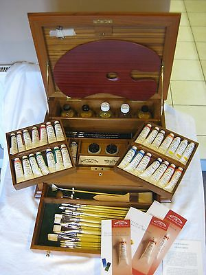 Winsor and Newton Artists' Oil 'Studio Chest' Wooden Box Set