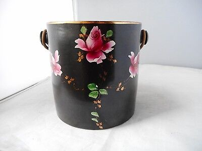 ART NOUVEAU POTTERY BISCUIT BARREL-13cms high and 13cms diameter