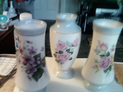 wade vases x3 all flowers
