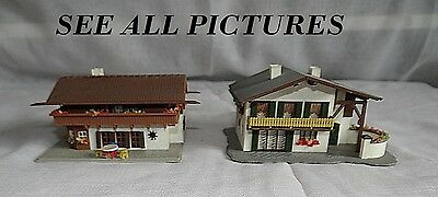 Two Alpine Chalet Style Houses, Vgc, N Gauge / Scale