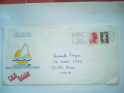 France Larmor Plage Stamped Cover  Air Mail  To Roma Italia  Stamps