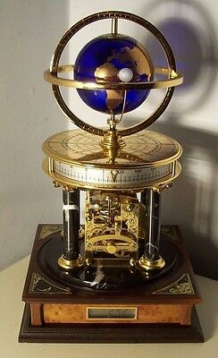 Rare Orrery Clock in Excellent Condition and Full Working Order