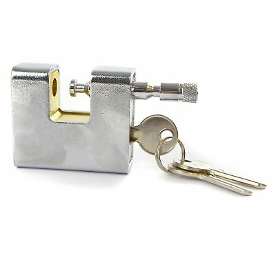 63mm Armoured Container Padlock Shutter Lock Security Solid Shed 3 Keys TE900