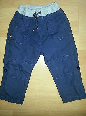 Baby boys Mothercare cargo trousers blue 9-12 months