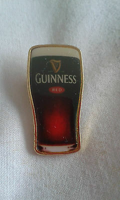 Red Guinness pint pin badge. New