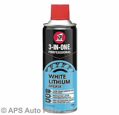 3-In-One White Lithium Grease Long Term Protecting Lubrication Spray 400ml New