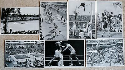 7 Olympia 1936 Photographs, Sammelwerk.- Athletic  Events.