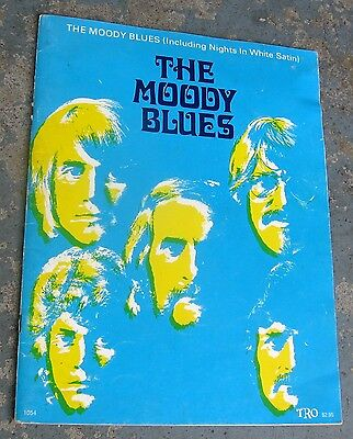 "1971 Moody Blues Song Book ""The Moody Blues (including ""Nights in White Satin"")"""