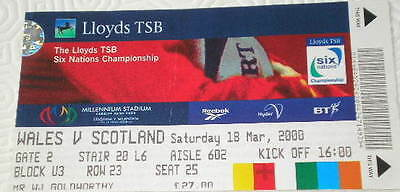 2000 WALES v SCOTLAND ticket