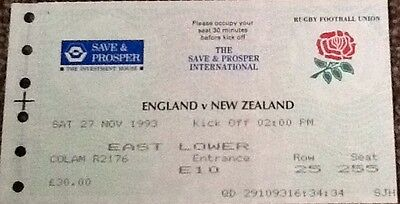 1993 ENGLAND v NEW ZEALAND ticket