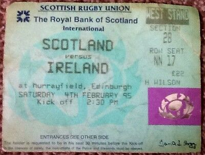 1995 SCOTLAND v IRELAND ticket