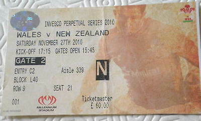 2010 WALES v NEW ZEALAND ticket