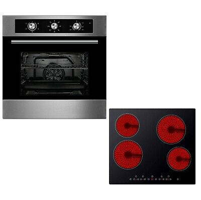Cookology 60cm Built-in Electric Fan Oven & Touch Control Ceramic Hob Pack