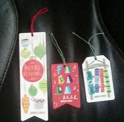 Lot of Three Barnes & Noble Gift Cards, Bookmark,  2016  Collectible
