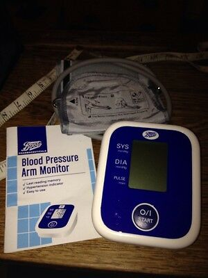 Medical Blood Pressure Arm Monitor Cuff And Instructions By Boots Chemist