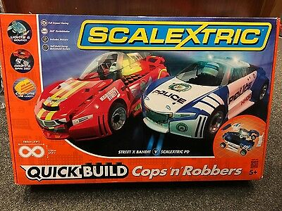 Scalextric Quick Build Cops 'n' Robbers 1:32 Set (C1323) - NO CARS INCLUDED