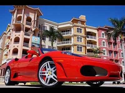 2008 Ferrari 430 Spider Convertible 2-Door Rosso Corsa Red TAN 430 SPIDER 360 550 599 575 458 456 FF F12 F1