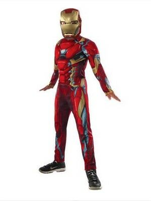 Nwt Marvel Iron Man Muscle Chest Halloween Costume Dress Up Sz L 10 - 12