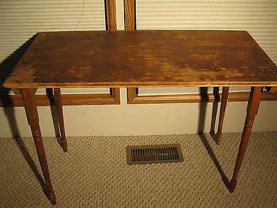 Antique Mercantile Wood Folding Sewing Tailors Table