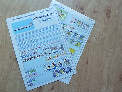 Transaero 767-300 Series Safety Card