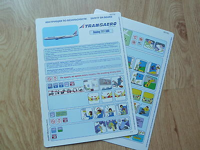 Transaero 777-300 Series Safety Card