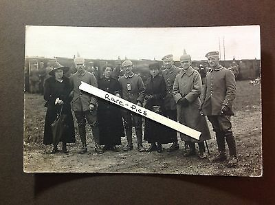 Orig. WW1 German Photo: Elite Soldiers departing for Front, Wives, Steam Train