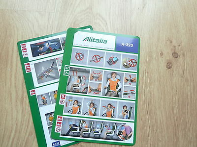 Alitalia A320 series Safety Card