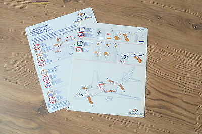 Iberworld A320 series Safety Card