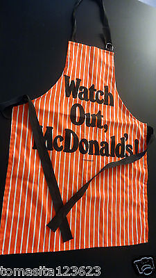 Vintage McDonald's Apron Extremely Rare Collectible Grill Barbecue Cookout Cook