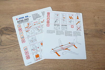 Onur Air A320 series Safety Card