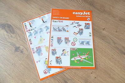 eayJet A319 / 320 series Safety Card