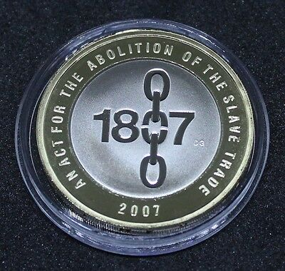 ~~ 2007 Royal Mint Abolition of the Slave Trade Proof Two Pound £2 Coin ~~