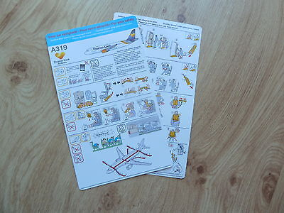 Thomas Cook A319  series Safety Card