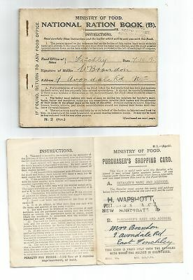 National Ration Book ORIGINAL Purchaser's Shopping Card 1918 East Finchley N2