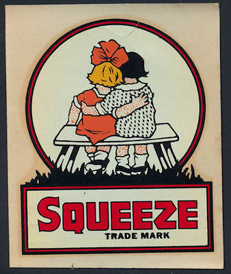 1940's Squeeze Soda Decal