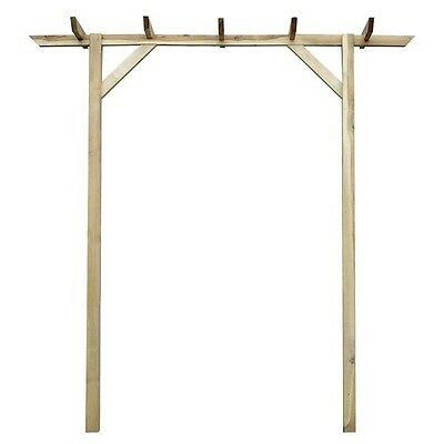Wooden Garden Pergola Arch Wood Arbour Rose Archway Climbing Plants Support New