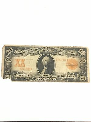 1906 $20 Gold Certificate Solid Circulated Note