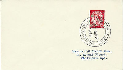 GB 1955 2.1/2d Cover with Ideal Home Exhibition Olympia London Special Cancel