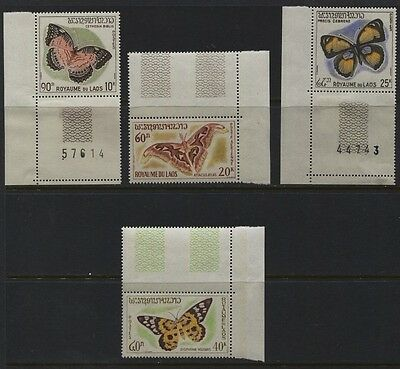 Malaysia / Laos Butterflies MH Set, Covers, Part Covers Laos 101-103/C46