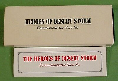 1991 Marshall Islands 3 Coin Commemorative Coin Set~Heroes Of Desert Storm~