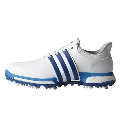 New Men'S Adidas Tour 360 Boost Golf Shoes White/blue F33252/f33264- Pick A Size