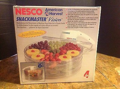 Nesco American Harvest Snackmaster Vision Food Dehydrator